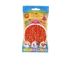 Hama midi perler i orange / farvenr: 207-04