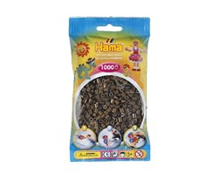 Hama midi perler i brun / farvenr: 207-12