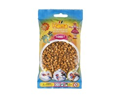 Hama midi perler i lys brun / farvenr: 207-21