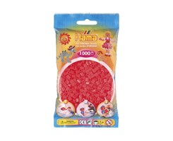 Hama midi perler i neon rød / farvenr: 207-35