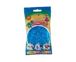 Hama midi perler i trans.blå / farvenr: 207-73