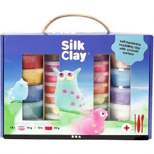 Silk clay / Gaveæske, ass. farver, 1 sæt