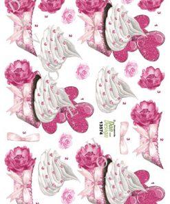 Blandet / 3D ark med cupcake / Dan-Design