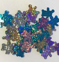 Confetti strø bjørne / 5 farver hologram