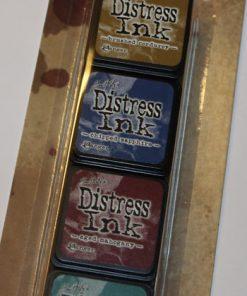 Stempelpuder sæt med 4 farver / Distress