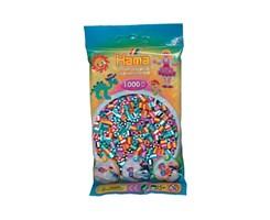 Hama midi perler 1000 stk.Stribet mix nr: 207-90