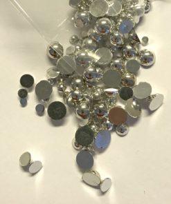 Halvperler voks sølv farve, ass. str. 10 g