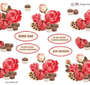 Blomster / 3D ark med mors dag / HM Design