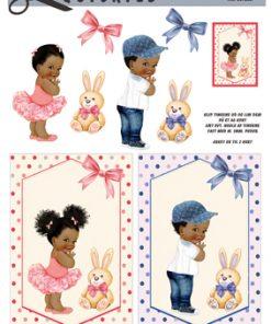 Børn / 3D ark med søde afro børn / Quickies