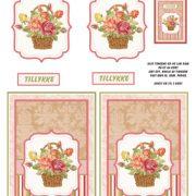 Blomster / 3D ark kurv med blomster / Quickies