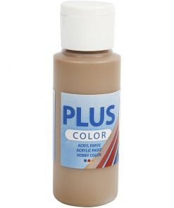 Plus color hobbymaling, light brown / 60 ml