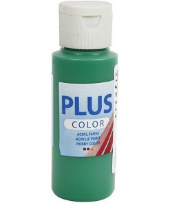 Plus color hobbymaling, Brilliant green, 60 ml