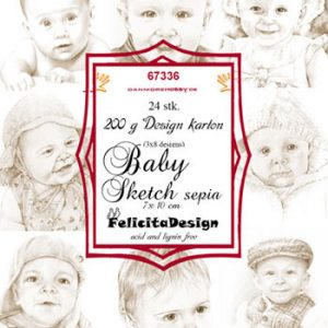 Toppers 7 x 10 cm, 24 stk. 200 g / Baby