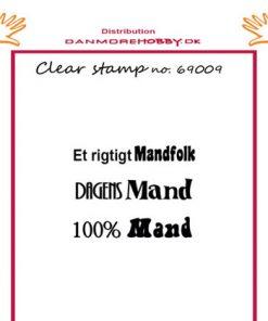 Stempel / Et rigtigt mandfolk / Felicita Design