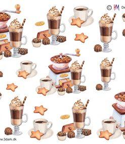 Blandet / 3D ark med kaffe,kakao og chokolade / HM Design