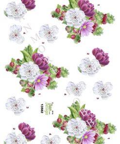 Blomster / 3D ark med blomster / Dan-Design