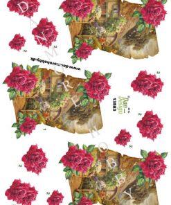 Blomster / 3D ark blomster med stråtægt / Dan-Design