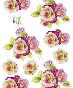 Blomster / 3D ark, smukke blomster / Dan-Design