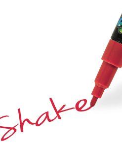 Shake tusch fine, Rød 2,5 mm