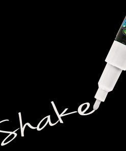 Shake tusch fine, Hvid 2,5 mm