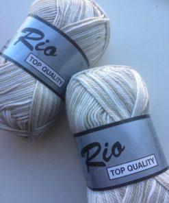 Rio-multi farvet garn 100% bomuld / Grå
