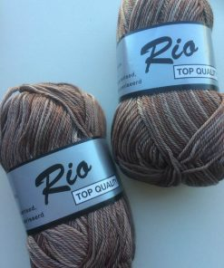 Rio-multi farvet garn 100 % bomuld / Brun