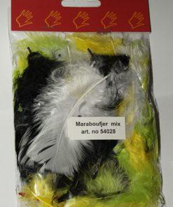 Fjer marabou 5 gram / mixede farver