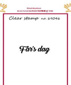 Stempel / med teksten fars dag / Felicita Design