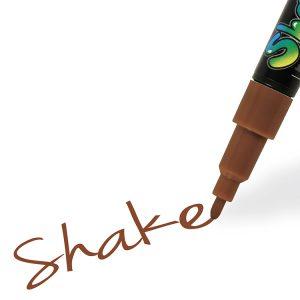 Shake tusch fine, brun 2,5 mm
