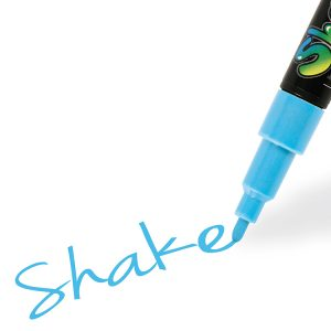 Shake tusch fine, lyseblå 2,5 mm