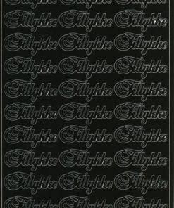 Stickers / med tillykke i sort