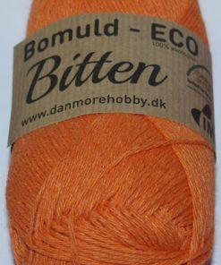 Bitten / Økologisk bomuldsgarn - orange col 01