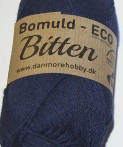 Bitten / Økologisk bomuldsgarn - mørkeblå col 18