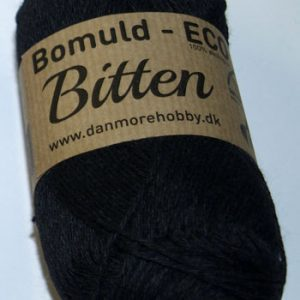 Bitten / Økologisk bomuldsgarn - sort col 29