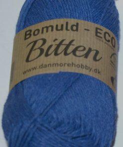 Bitten / Økologisk bomuldsgarn - kobolt col 301