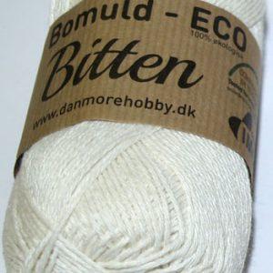 Bitten / Økologisk bomuldsgarn - råhvid col 309