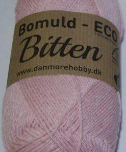 Bitten / Økologisk bomuldsgarn - baby lyserød col 62