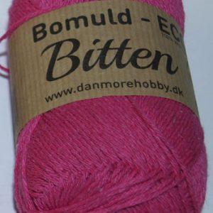 Bitten / Økologisk bomuldsgarn - pink col 7