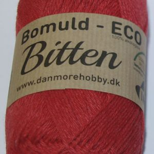 Bitten / Økologisk bomuldsgarn - rød col 95