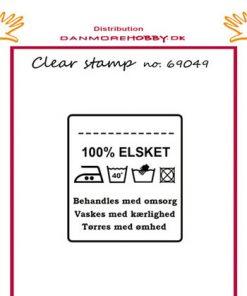 Stempel med sødt vaskemærke / Clear stamp