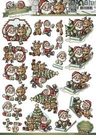 Jul / 3D ark julemand og rensdyr / Yvonne Creations