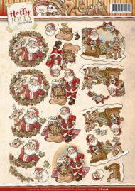 Jul / 3D ark med julemænd / Yvonne Creations