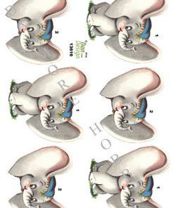 Børn / 3D ark elefantunge / Dan-Design
