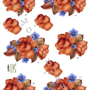 Blomster / 3D ark med roser / Dan-Design