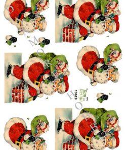 Jul / 3D ark julemand på vej / Dan-Design