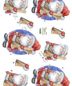 Jul / 3D ark med julemand / Dan-Design