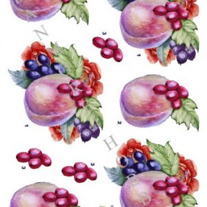 Blomster / 3D ark lækker frugt / Dan-Design