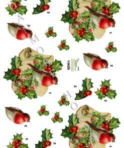 Jul / 3D ark fugl på tjørn / Dan-design