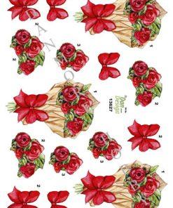Blomster / 3D ark blomsterbuket / Dan-Design