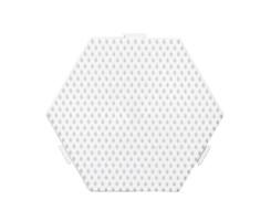 Perleplade / Stiftplade sekskantet Medium